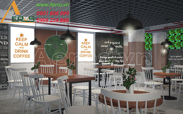 Thiết kế nội thất quán cafe Chappi của anh Khánh tại quận Tân Phú, TP.HCM