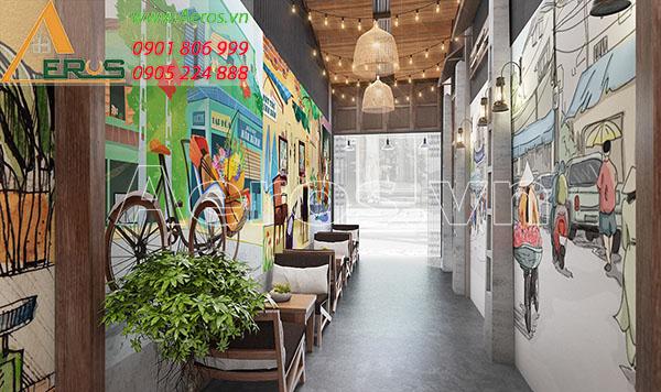 Thiết kế nội thất quán cafe Hai Ngọ tại quận Bình Tân, TP.HCM