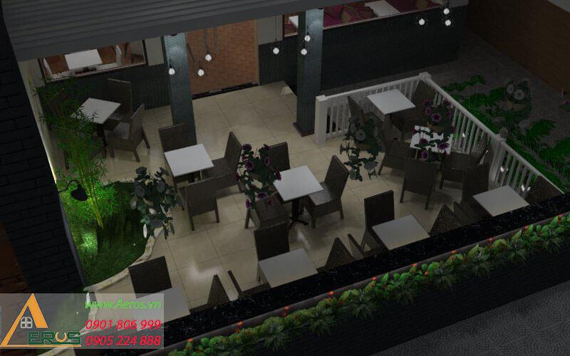 thiết kế thi công quán cafe kem