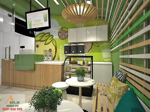 Thiết kế nội thất quán trà sữa Affini Tea tại quận 1, TP.HCM