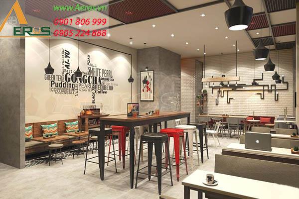 Thiết kế thi công quán trà sữa Gong Cha tại Phú Nhuận, TP.HCM