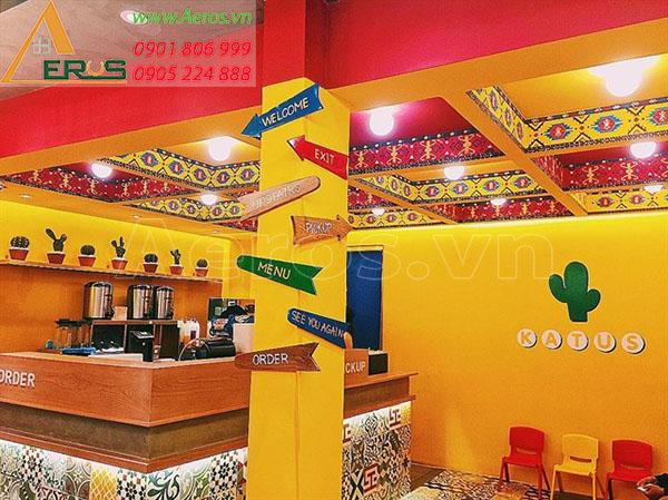 Thiết kế quán trà sữa Katus tại quận 10