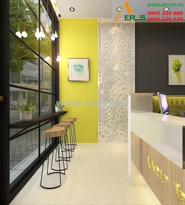 Thiết kế thi công quán trà sữa Uncle tea - Quận 5
