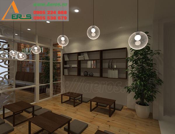 Hình ảnh thiết kế thi công quán trà sữa Elenoir