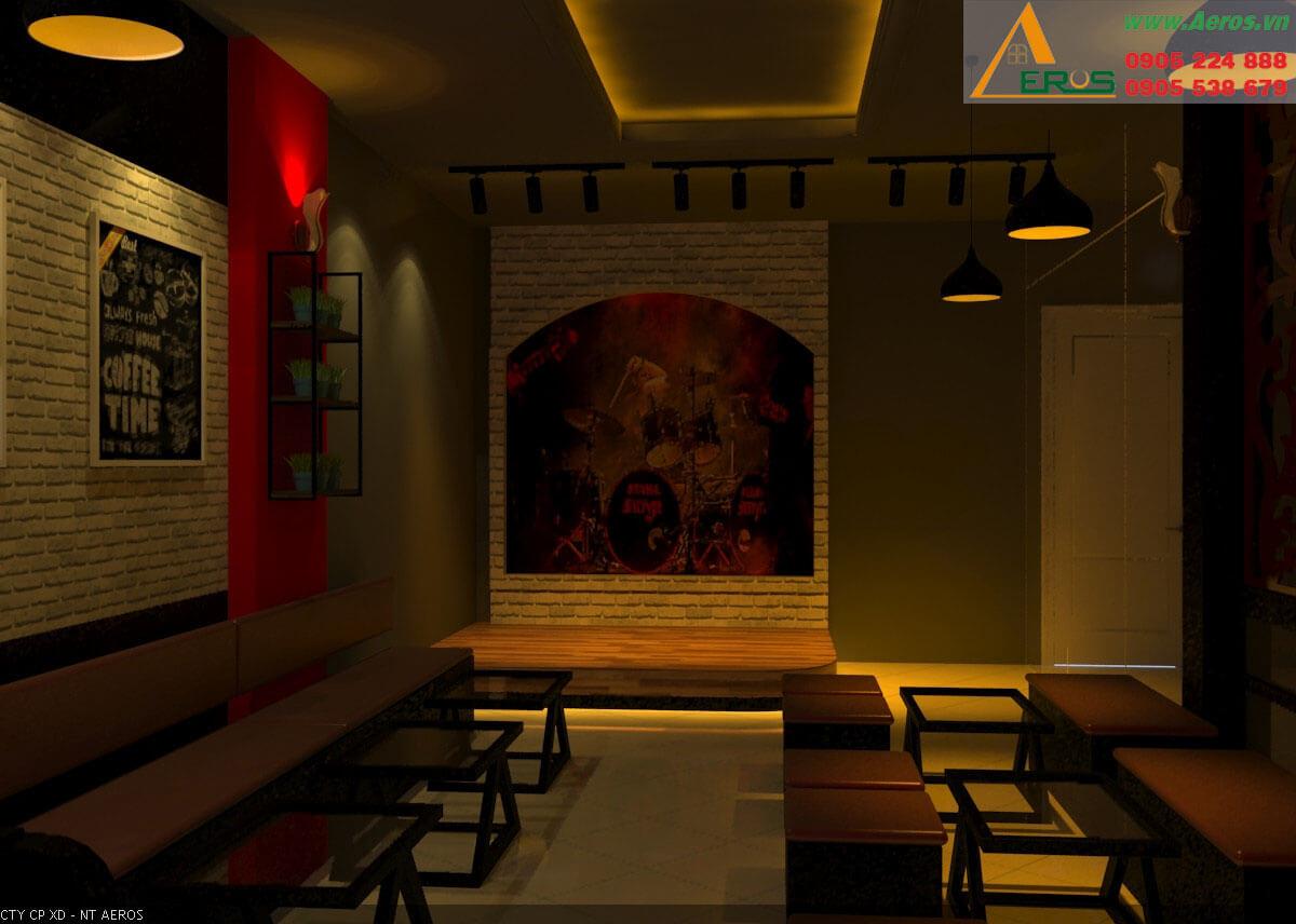 Hình ảnh thiết kế thi công quán trà sữa anh Mạnh