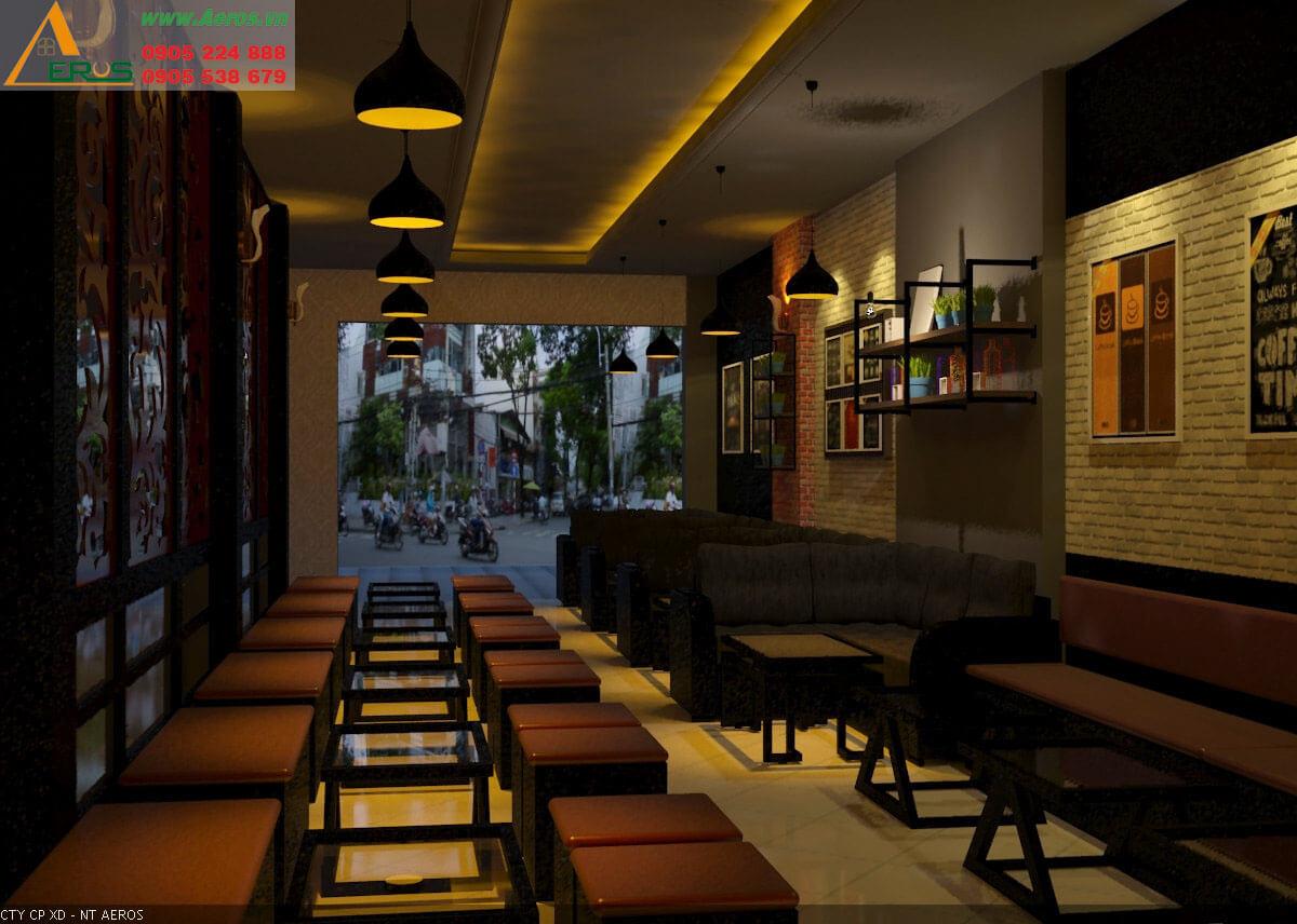 Thiết kế thi công quán trà sữa anh Mạnh - Quận Tân Phú