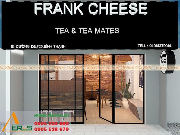 Thiết kế thi công quán trà sữa anh Tâm - Bình Thạnh