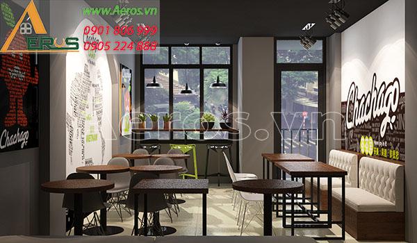 Thiết kế nội thất quán trà sữa Chachago tại Phú Nhuận, TP.HCM