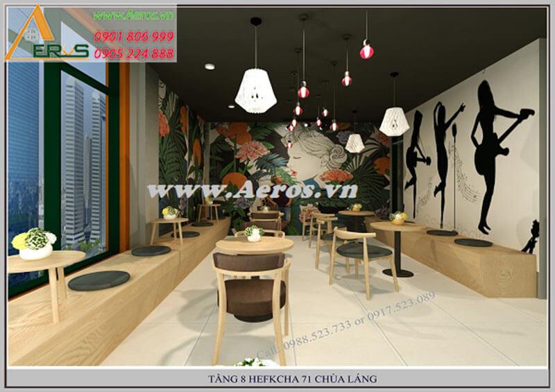 Hình ảnh thiết kế quán trà sữa