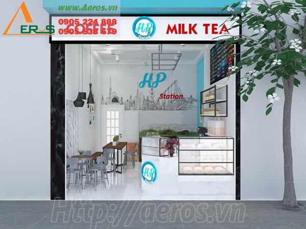 Thiết kế thi công quán trà sữa HP - Tân Phú