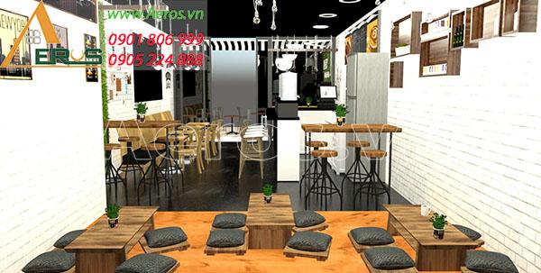 Thiết kế quán trà sữa Pet Milktea quận Bình Thạnh, TP.HCM