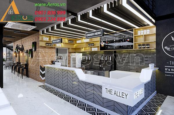 Thiết kế nội thất quán trà sữa The Alley - Hà Nội