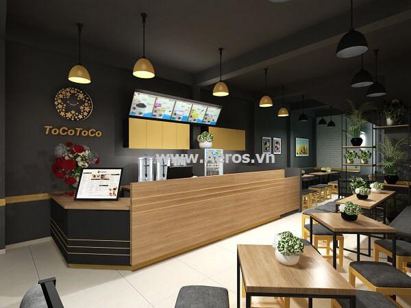 Thiết kế thi công quán trà sữa Tocotoco - Quận 5
