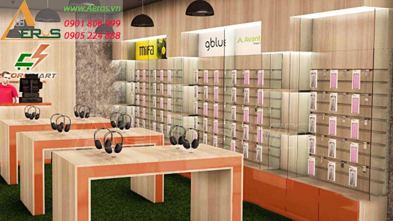 Hình ảnh thiết kế thi công shop điện thoại StormMart