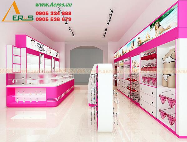 Hình ảnh thiết kế cửa hàng đồ lót chị Hồng