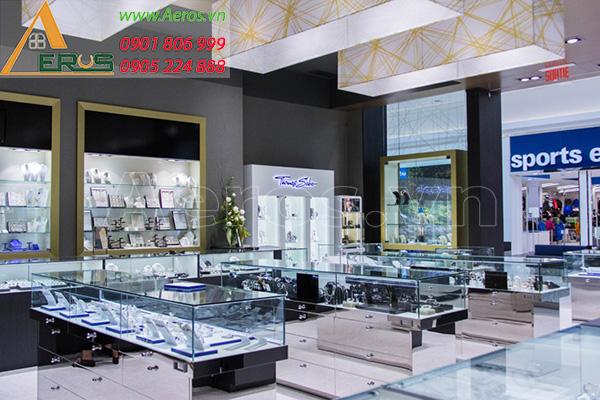 Thiết kế thi công nội thất shop đồng hồ Chemin Dors của chị Hồng tại quận 3, TP.HCM