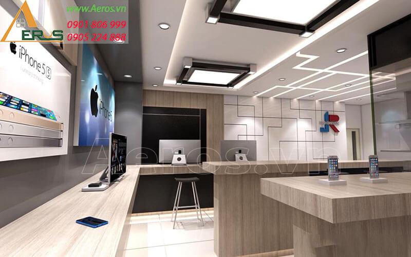 Hình ảnh thiết kế thi công cửa hàng điện thoại