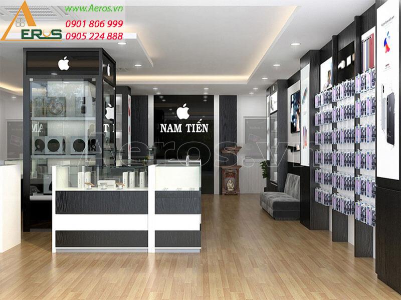 Hình ảnh thiết kế thi công cửa hàng điện thoại Nam Tiến