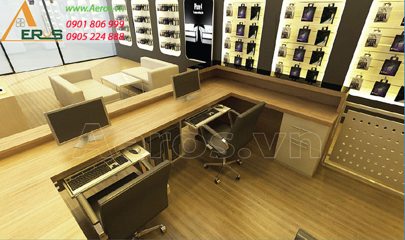 Hình ảnh thiết kế thi công shop điện thoại Fashion Moble