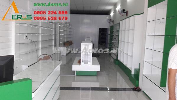 Hình ảnh thiết kế thi công shop giày dép Ánh Dương