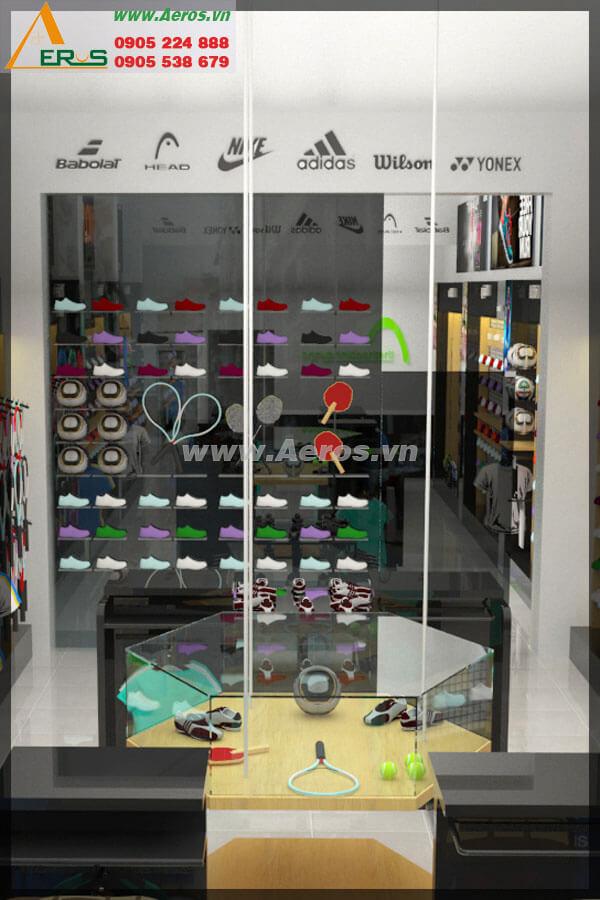 Hình ảnh thiết kế thi công shop giày Thethaobinhduong