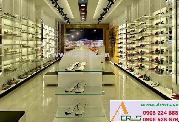 Hình ảnh thiết kế thi công shop giày dép Golly