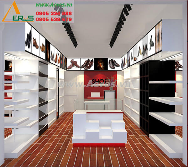 Thiết kế thi công shop giày dép Giày Tốt - Quận 1