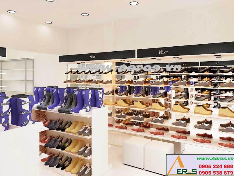 Hình ảnh thiết kế thi công shop giày dép Uyên Vy