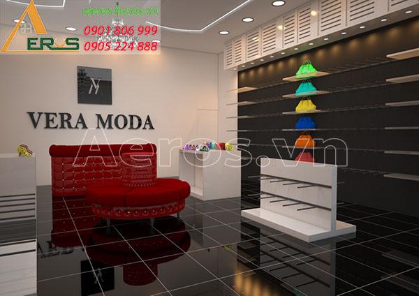 Thiết kế cửa hàng giày dép Vera Moda tại quận 4, TP.HCM