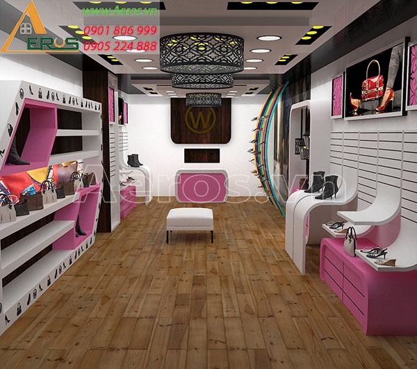 Thiết kế nội thất cửa hàng giày dép W Shop tại quận 8, TP.HCM