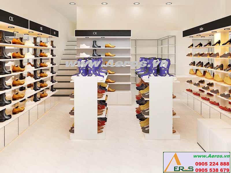 Hình ảnh thiết kế thi công shop giày dép