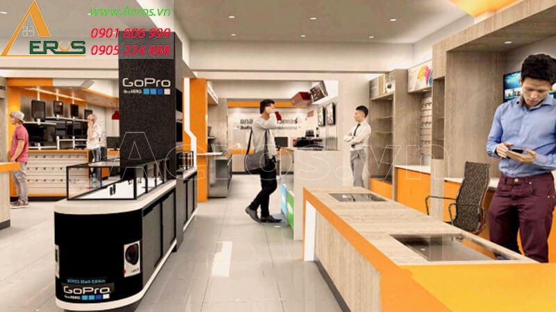 Hình ảnh thiết kế thi công cửa hàng điện thoại Laengcomputer