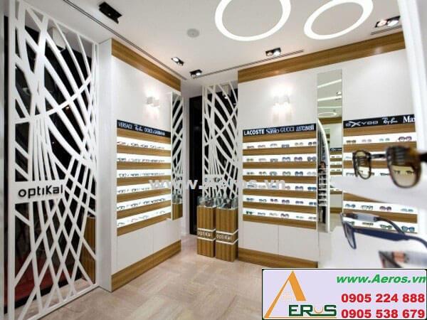 Hình ảnh thiết kế thi công shop mắt kính Optikal