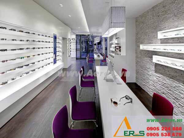 Hình ảnh thiết kế thi công shop mắt kính Trung