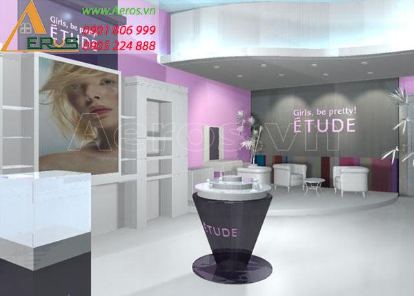 Thiết kế thi công shop mỹ phẩm Etude tại quận Tân Phú, TP.HCM