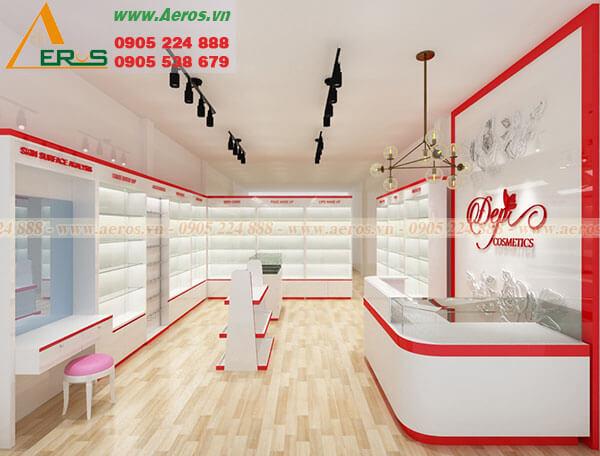 Hình ảnh thiết kế thi công shop mỹ phẩm Đẹp Cosmetics
