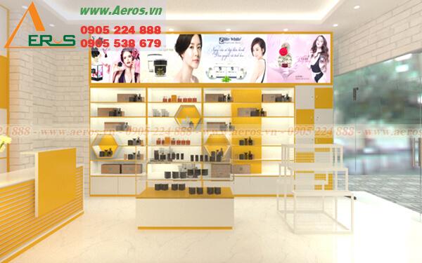 Hình ảnh thiết kế cửa hàng mỹ phẩm