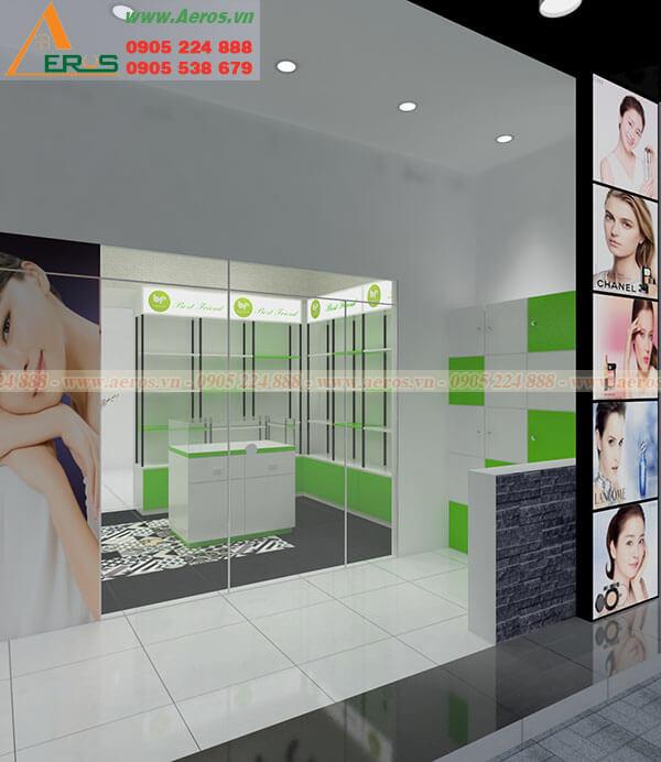 Hình ảnh thiết kế thi công cửa hàng mỹ phẩm