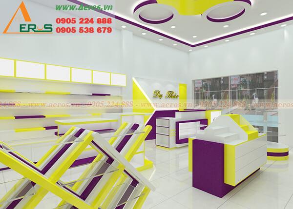Hình ảnh thiết kế thi công nội thất cửa hàng mỹ phẩm Dạ Thảo