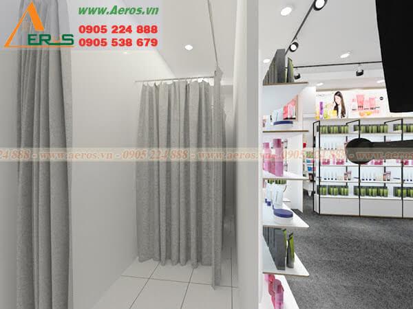 Hình ảnh thiết kế thi công shop Mỹ Phẩm Macy