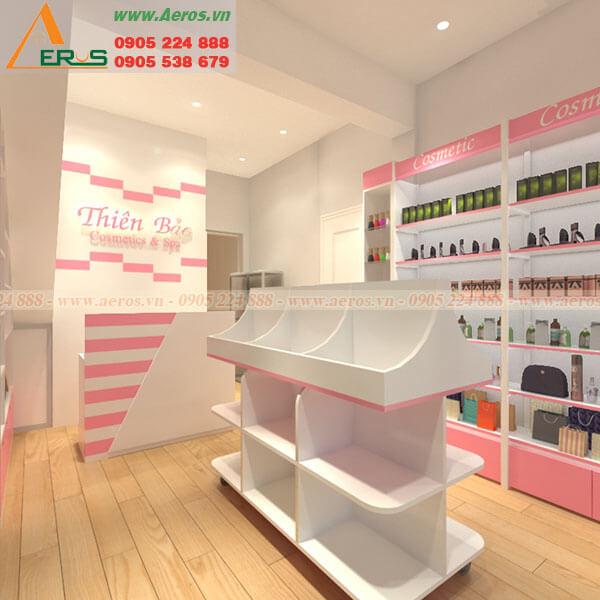 Hình ảnh thiết kế shop mỹ phẩm Thiên Bảo