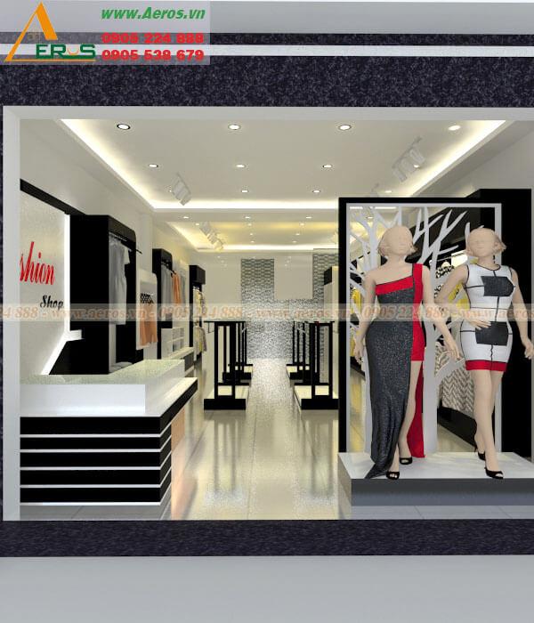 Hình ảnh thiết kế cửa hàng thời trang Fashion Shop