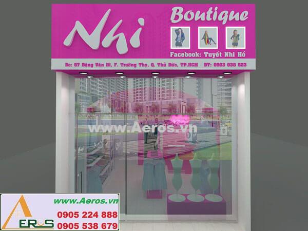 Thiết kế thi công nội thất shop thời trang Nhi Boutique - Thủ Đức