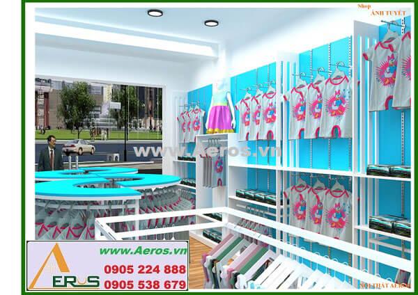 Hình ảnh thiết kế thi công cửa hàng thời trang