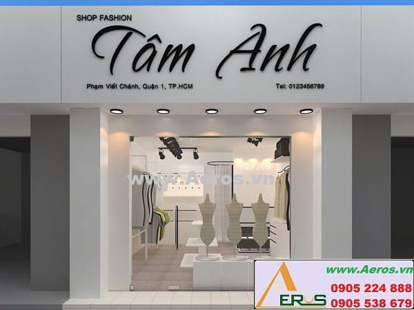 Thiết kế thi công shop thời trang Tâm Anh - Quận 1