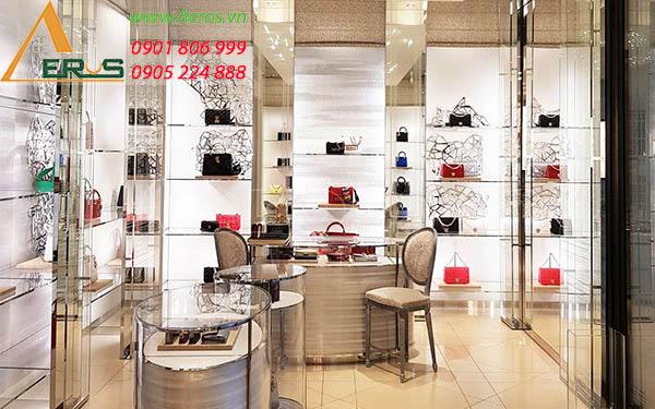 Thiết kế thi công cửa hàng túi xách của chị Nghi tại quận 6, TP.HCM