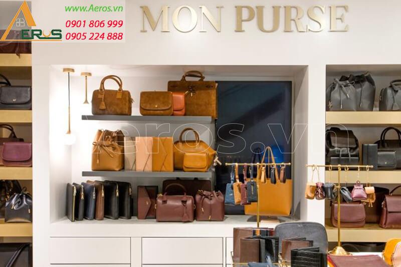 Thiết kế thi công shop túi xách Mon Purse