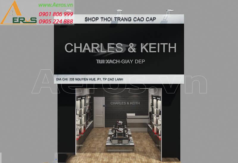 Thiết kế thi công shop túi xách Charles & Keith