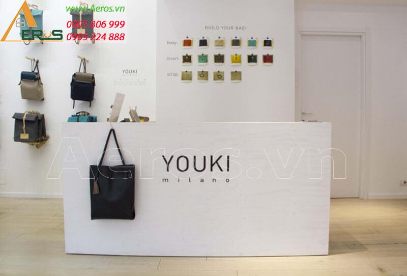 Thiết kế thi công shop túi xách Youki