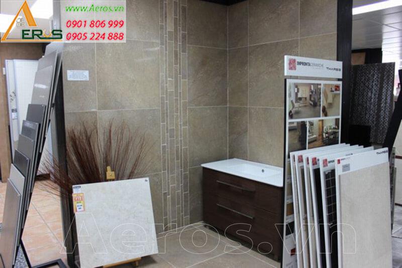 Hình ảnh thiết kế showroom gạch xây dựng